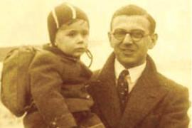 Nicholas Winton with one of the rescued children