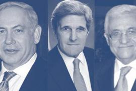 Netanyahu, Kerry and Abbas, graphical editing