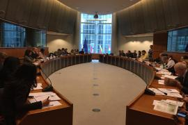 The room at the European Parliament