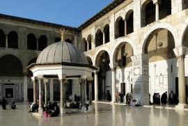 The Dome of the Clock in Umayyad mosque, before its destruction
