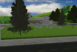 A picture in the rendering of the future Garden of the Righteous of Rwanda
