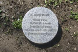 The memorial stone in honor of Armin T. Wegner at Milan Garden of the Righteous