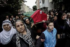 The funeral of some of the victims of the Ankara massacre
