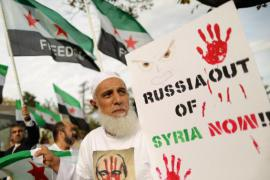Protest against the war in Syria