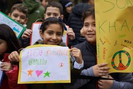 """""""I am Khaled"""". Children at Monte Stella Mound ceremony, 11/18/2015"""