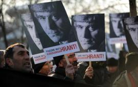 The march in Istanbul to commemorate Hrant Dink