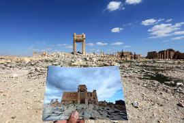 Palmyra before and after the destructions