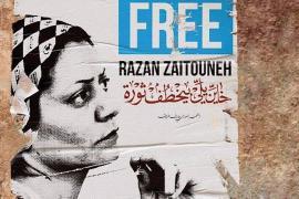 A poster demanding Razan's liberation