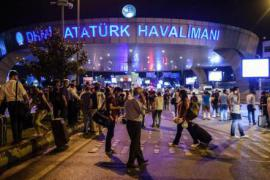 The airport of Istanbul the morning of the attack