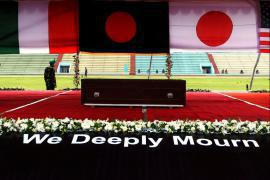 The ceremony in memory of the victims of Dhaka