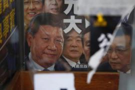 Faces of Chinese politicians on the covers of the Hong-Kong best-sellers