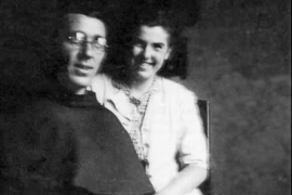 Majda Mazovec and Father Placido Cortese