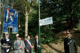 The inauguration of Viale dei Giusti