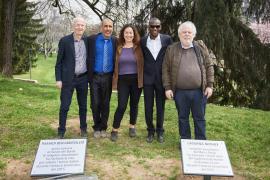 Riccardo Noury, Hamadi ben Abdesslem, Pinar Selek, Lassana Bathily and Klas Smelik