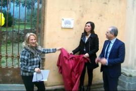 Unveiling of the plaque on the entrance of the Garden of Lamezia Terme