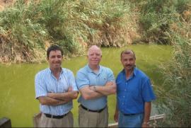 I tre direttori di EcoPeace:  Gidon Bromberg (Israele), Munqeth Mehyar (Giordania), Nader Al-Khateeb (Palestina)