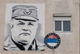 Ratko Mladic in a graffiti