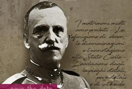 Vittorio Emanuele III's picture in the event's flyer