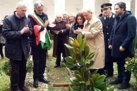 Inauguration of the Garden of the Righteous in Campagna, in honor of Giorgio Perlasca and Giovanni Palatucci.