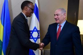 Benjamin Netanyahu meets Paul Kagame at the World Economic Forum of Davos