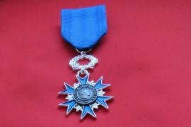 The medal of France's National Order to the Merit