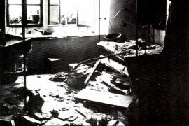 Interiors of a house destroyed in the Hebron massacre of 1929