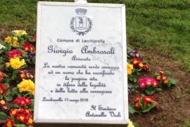 a plaque for Giorgio Ambrosoli