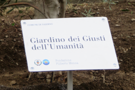 the plaque for the Garden of Salerno