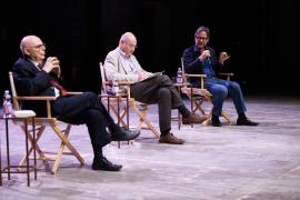 Salvatore Natoli, Gabriele Nissim and Massimo Recalcati at Teatro Franco Parenti