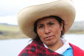 The environmental activist Máxima Acuña