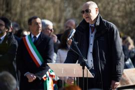 Gabriele Nissim and Mayor Giuseppe Sala at the Ceremony in the Garden of the Righteous of Milan