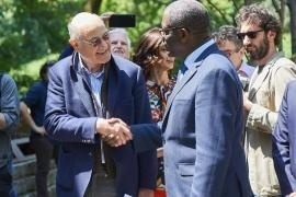 Gabriele Nissim with Denis Mukwege