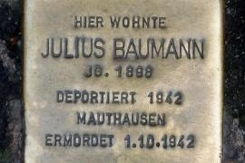 The stone dedicated to Baumann in Stuttgart