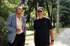 Gabriele Nissim and Nadav Tamir at the Garden of the Righteous in Milan