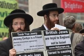 The ultra-Orthodox society in Britain demonstrates against the definitions of the IHRA