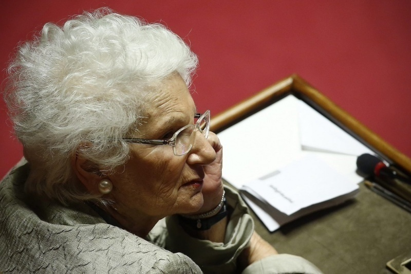 Liliana Segre at the Italian Senate for the Italian citizenship to Patrick Zaki
