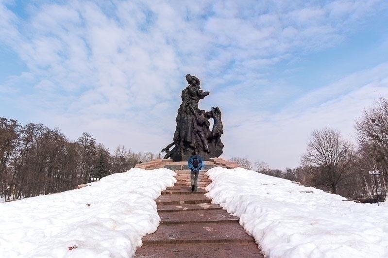 Kiev, bronze monument erected in 1976 to Babij Jar