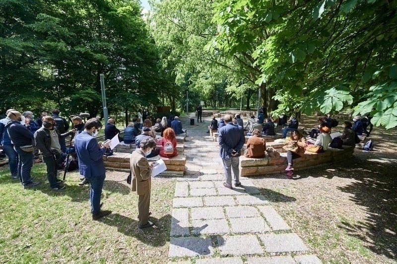 World Press Freedom Day's celebrations at the Garden of the Righteous Worldwide in Milan