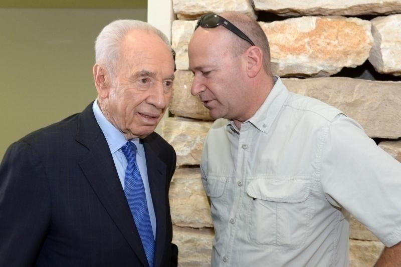 Nadav Tamir with Shimon Peres