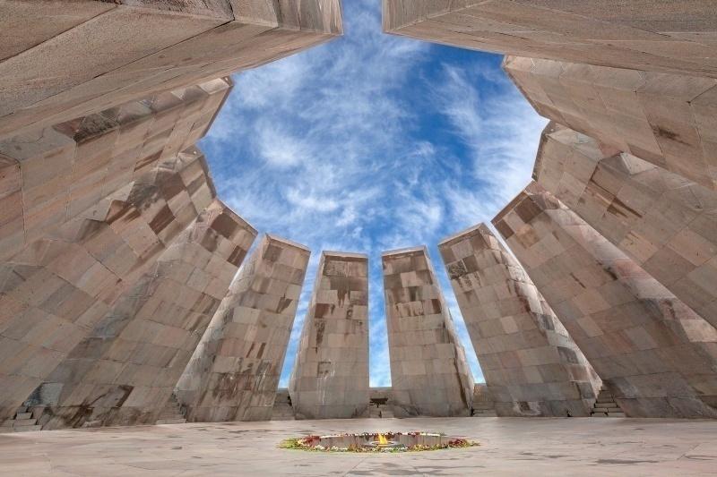 Tsitsernakaberd Memorial Complex in Yerevan, Armenia