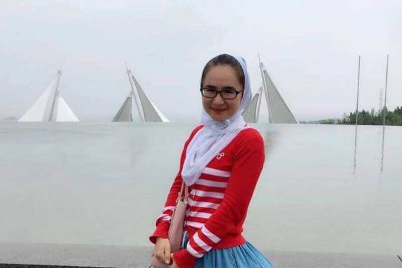 Mihriay Erkin, the niece of Uyghur activist Abduweli Ayup, who died in mysterious circumstances in Xinjiang.