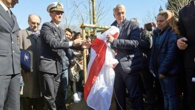 Ceremony at the Garden of the Righteous of Milan 2015