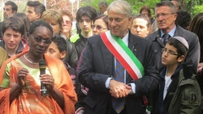 Ceremony at the Garden of the Righteous of Milan 2012