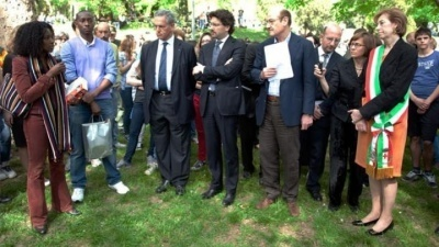 Ceremony at the Garden of the Righteous of Milan 2011