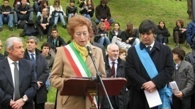 Ceremony at the Garden of the Righteous in Milan 2010