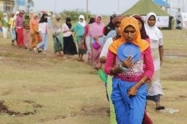 The runaway of the Rohingyas