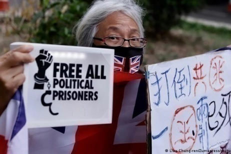 Hong Kong authorities banned public commemorations of Tienanmen Square massacre, putting activists in jail