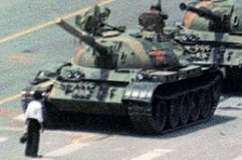 The icon picture of the resistance on Tiananmen Square