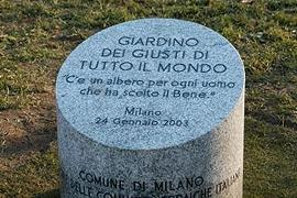 The Memorial Stone in the Garden of Milan