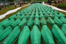 Graves of death in Srebrenica